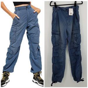 Free People Blue City Cargo Pants OB989244
